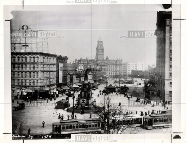 1914 Press Photo Cadillac Square Pontchartrrain Russell - Historic Images