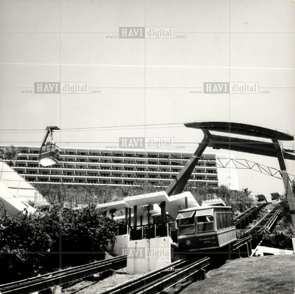 1976 Press Photo Cable car Aerial lifts - Historic Images