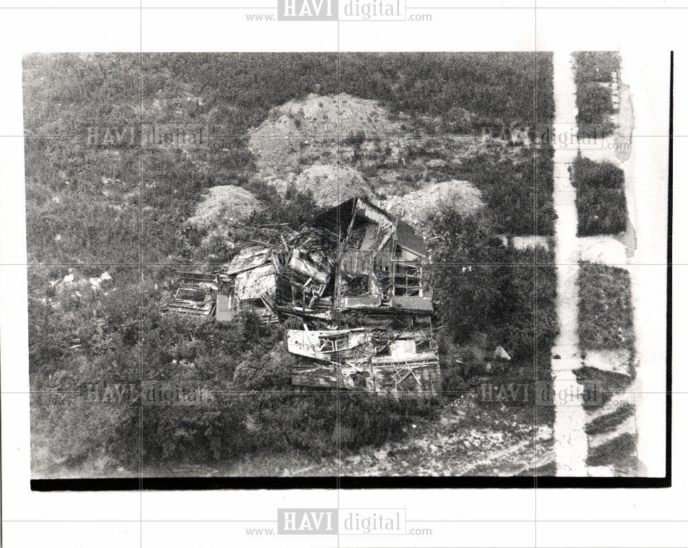 1989 Press Photo Building abandoned Neighborhoods - Historic Images
