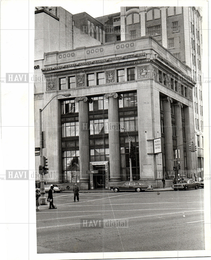 1979 Press Photo Burton Abstract and Title Building - Historic Images