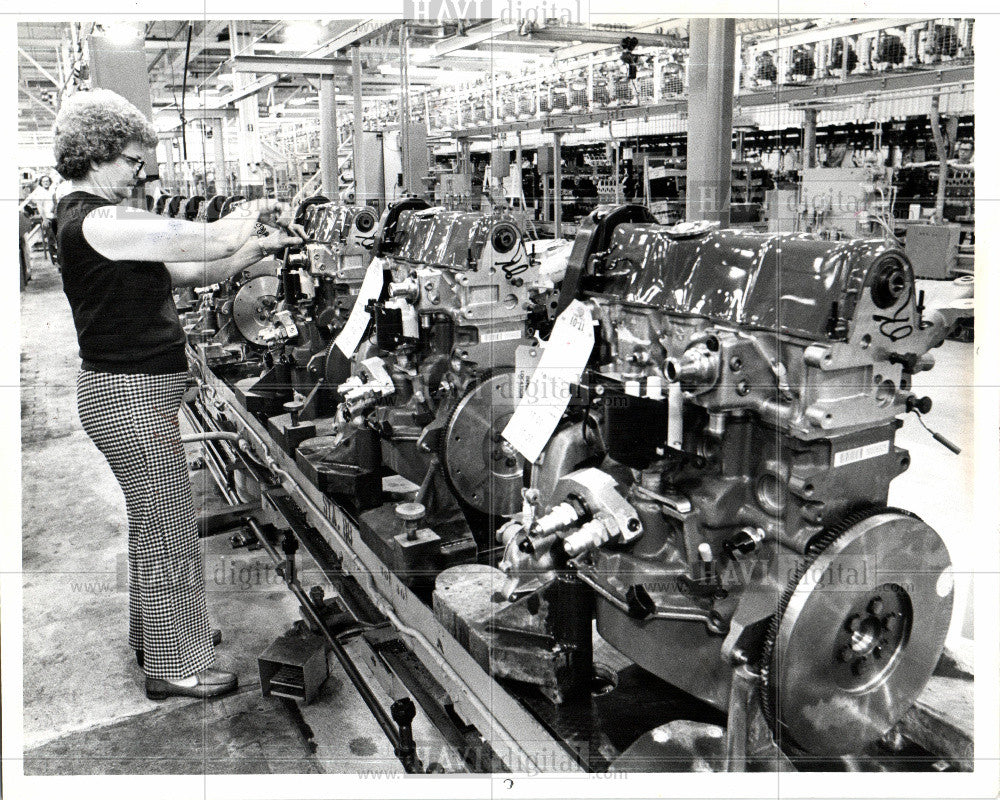 1984 Press Photo Chrysler Corp. Plant - Historic Images