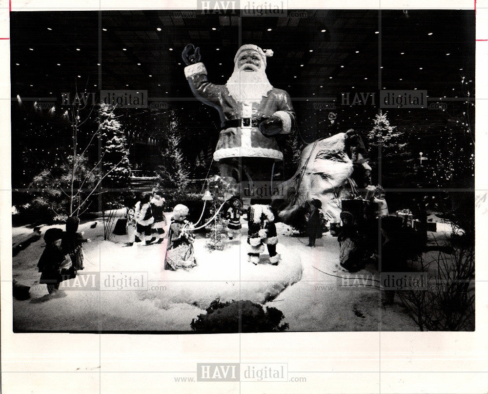 1973 Press Photo Christmas events Cobo Hall Detroit - Historic Images