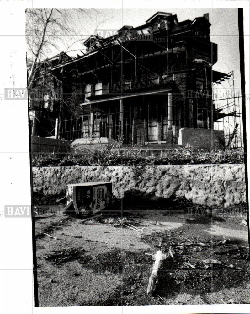 1990 Press Photo drug addicts cass corridor syringe - Historic Images