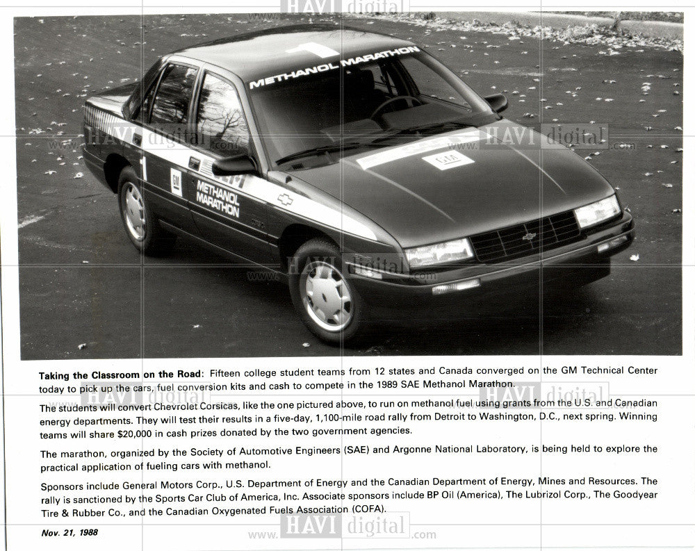 1988 Press Photo Chevrolet Automobiles 1980 - Historic Images