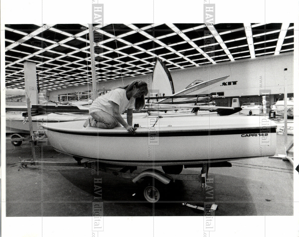 1991 Press Photo BOAT SHOW - Historic Images