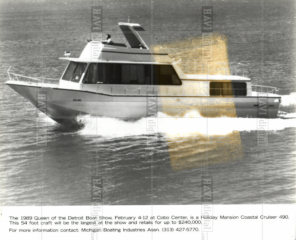 1989 Press Photo Boat Show - Historic Images