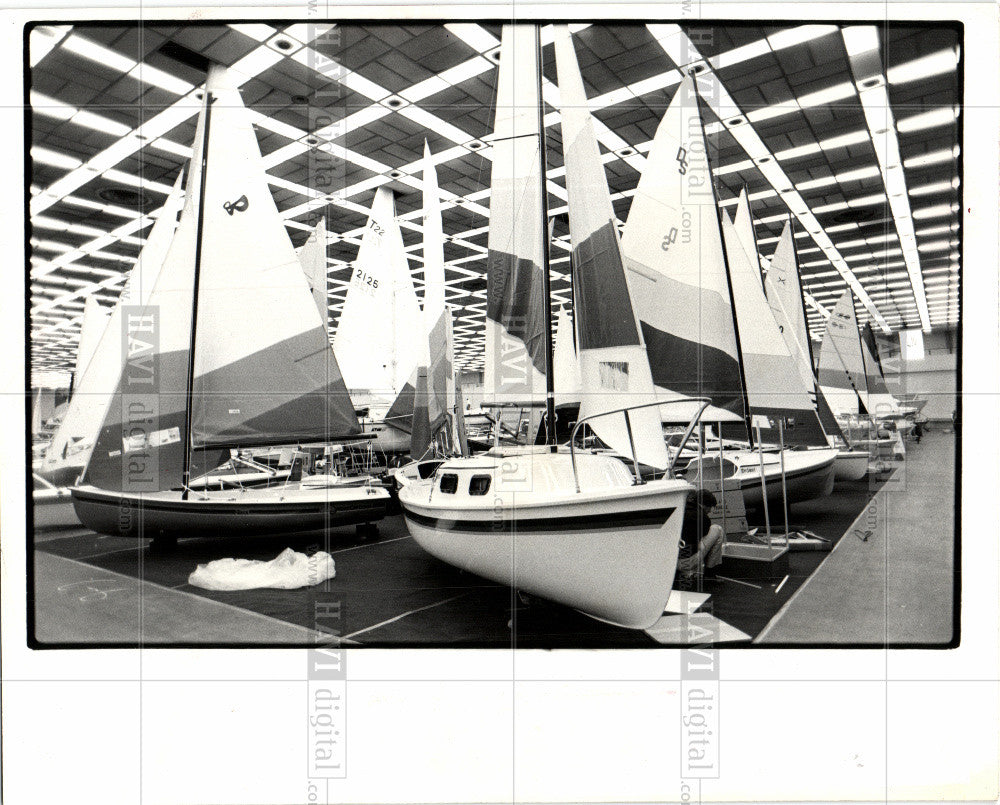1981 Press Photo BOAT SHOW - Historic Images
