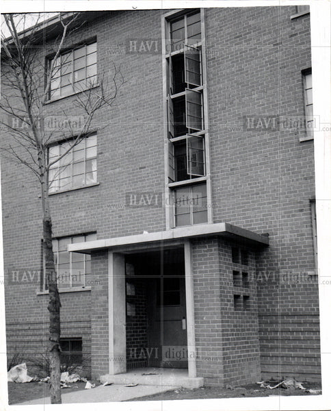 1956 Press Photo Brrwster Douglass Housing Projects - Historic Images