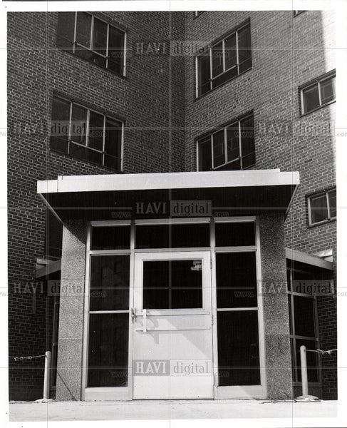 1955 Press Photo Douglass Housing Project - Historic Images