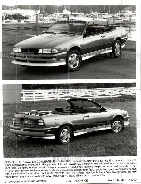 Press Photo Z24 CHEVROLET CONVERTIBLE - Historic Images