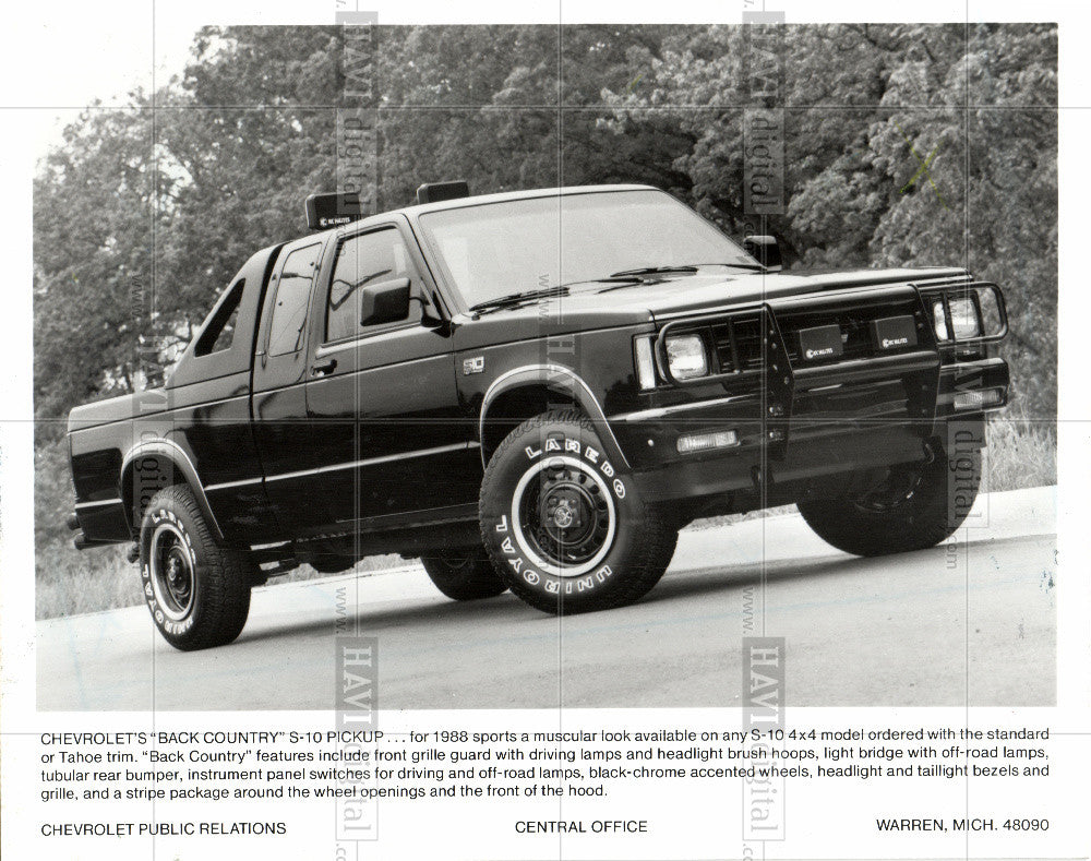 1988 Press Photo Chevy - Historic Images