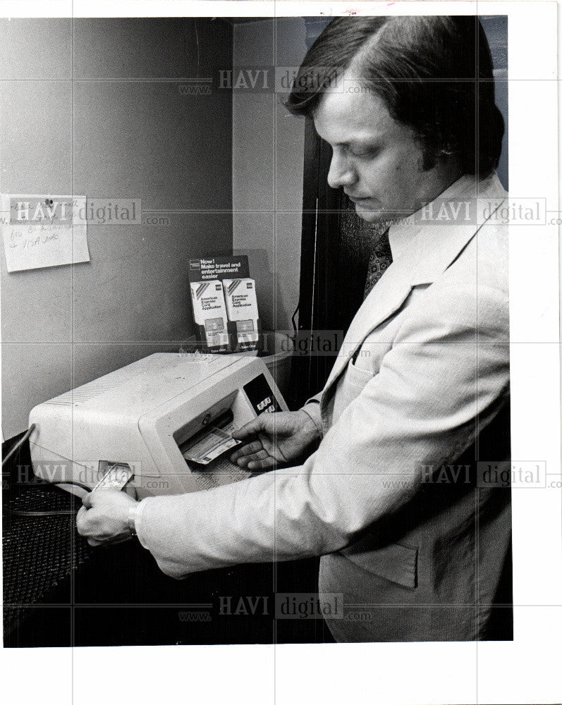 1978 Press Photo credit card  system of payment - Historic Images