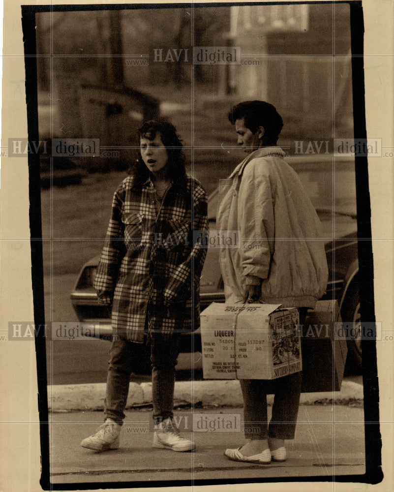 1989 Press Photo O'Neil Feijoo eviction - Historic Images