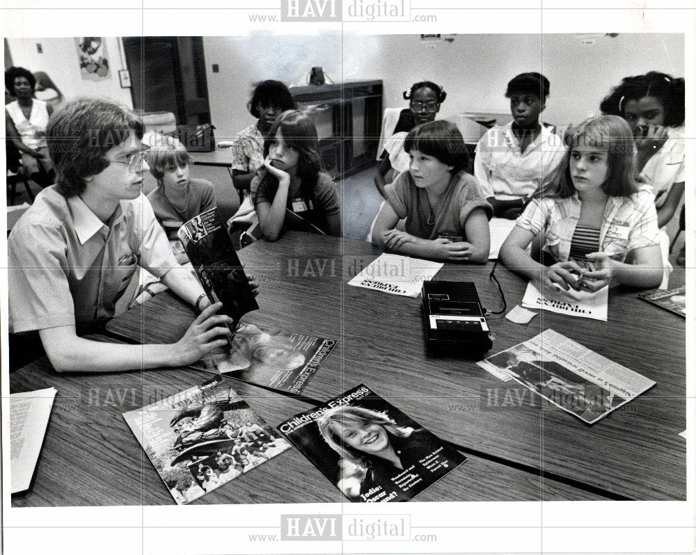 1980 Press Photo Gregory Aull editor Children's Express - Historic Images