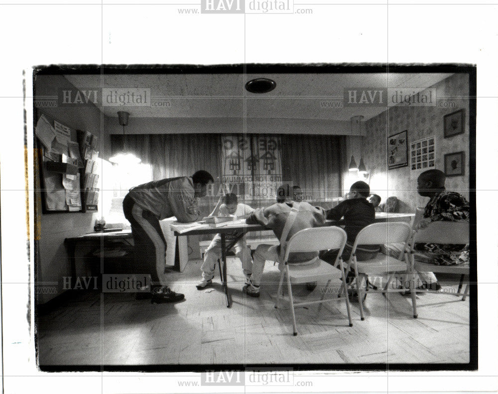 1993 Press Photo Children at Emmanuel Community House - Historic Images