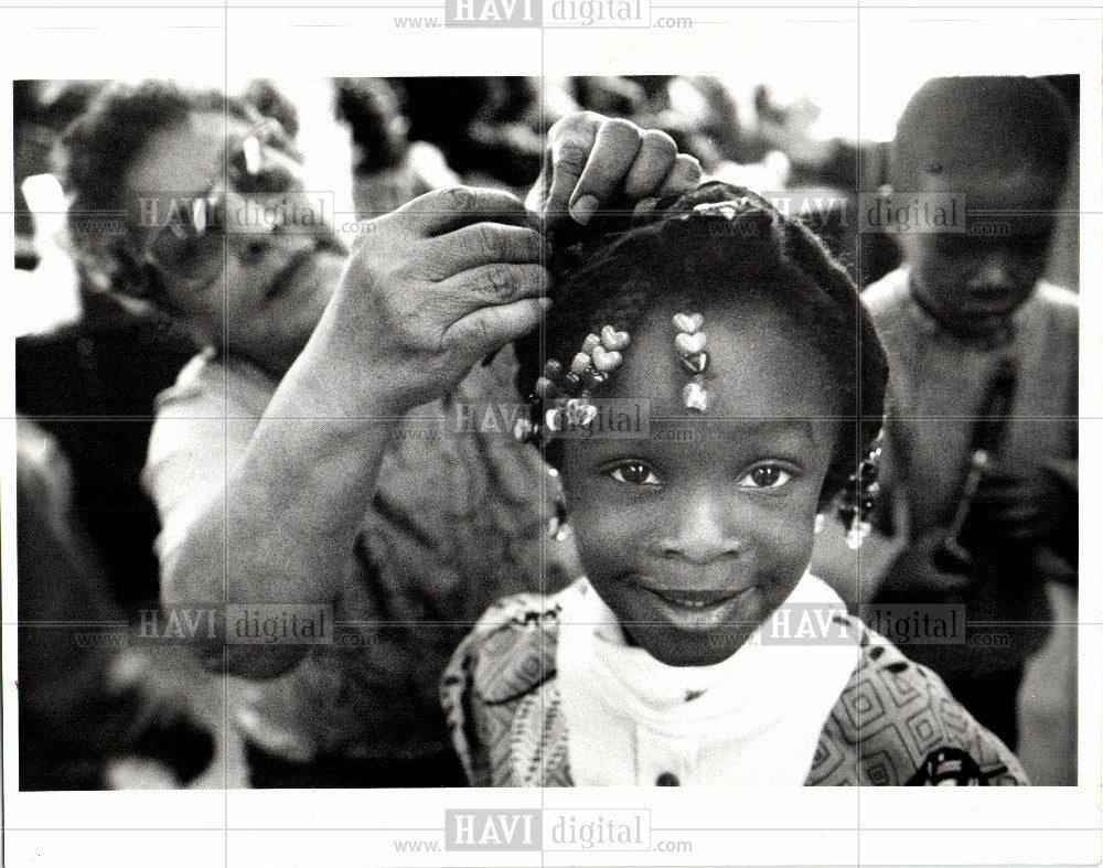 1993 Press Photo Detroit Brightmoor Center Head Start - Historic Images