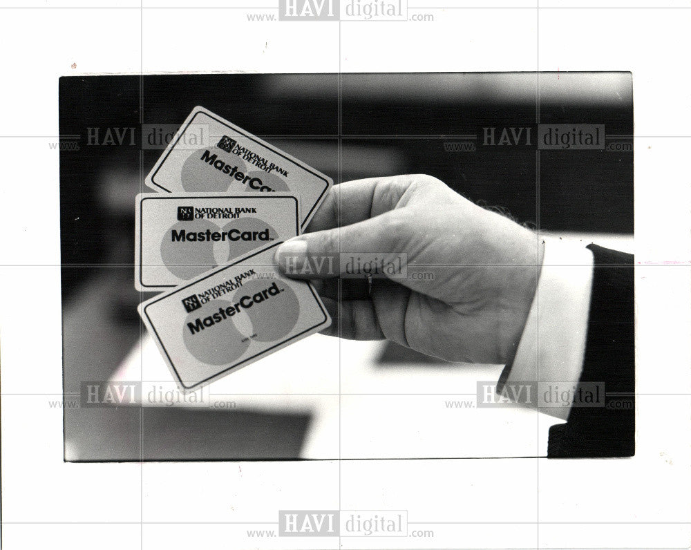 1981 Press Photo CREDIT CARD - Historic Images