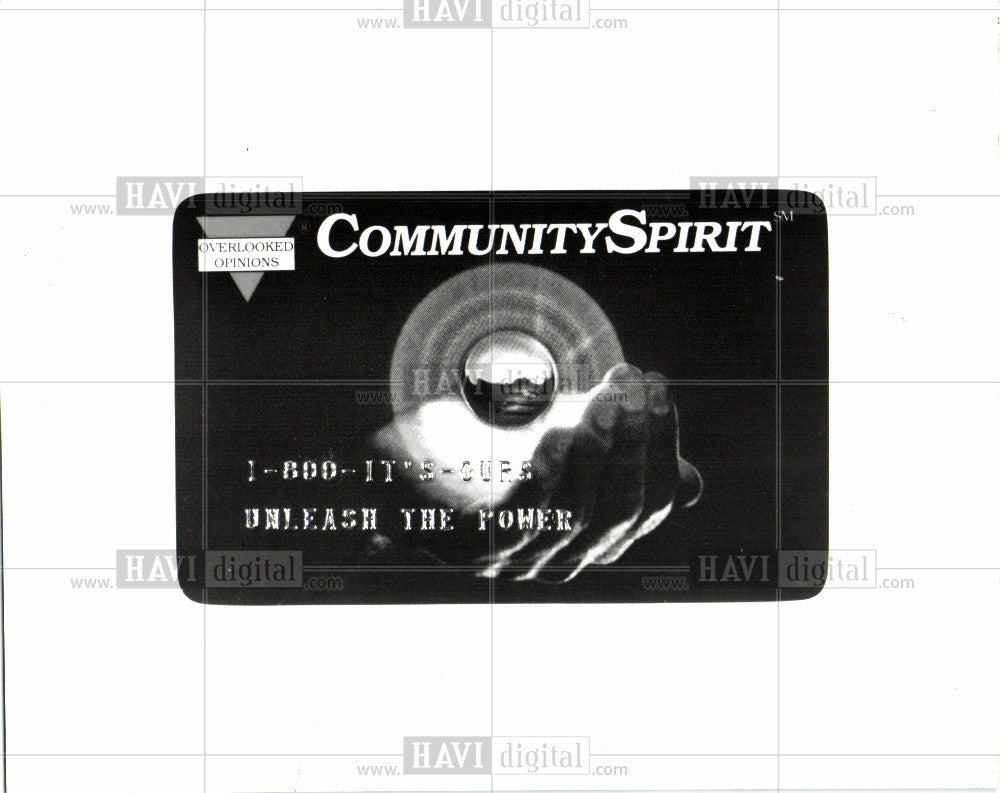 1993 Press Photo Credit card community spirit - Historic Images