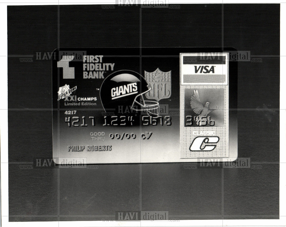 1987 Press Photo Credit card - Historic Images