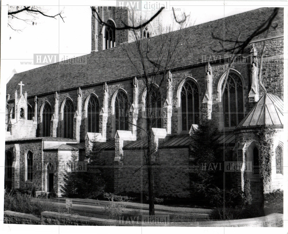 1982 Press Photo Christ Church Cranbrook exterior - Historic Images