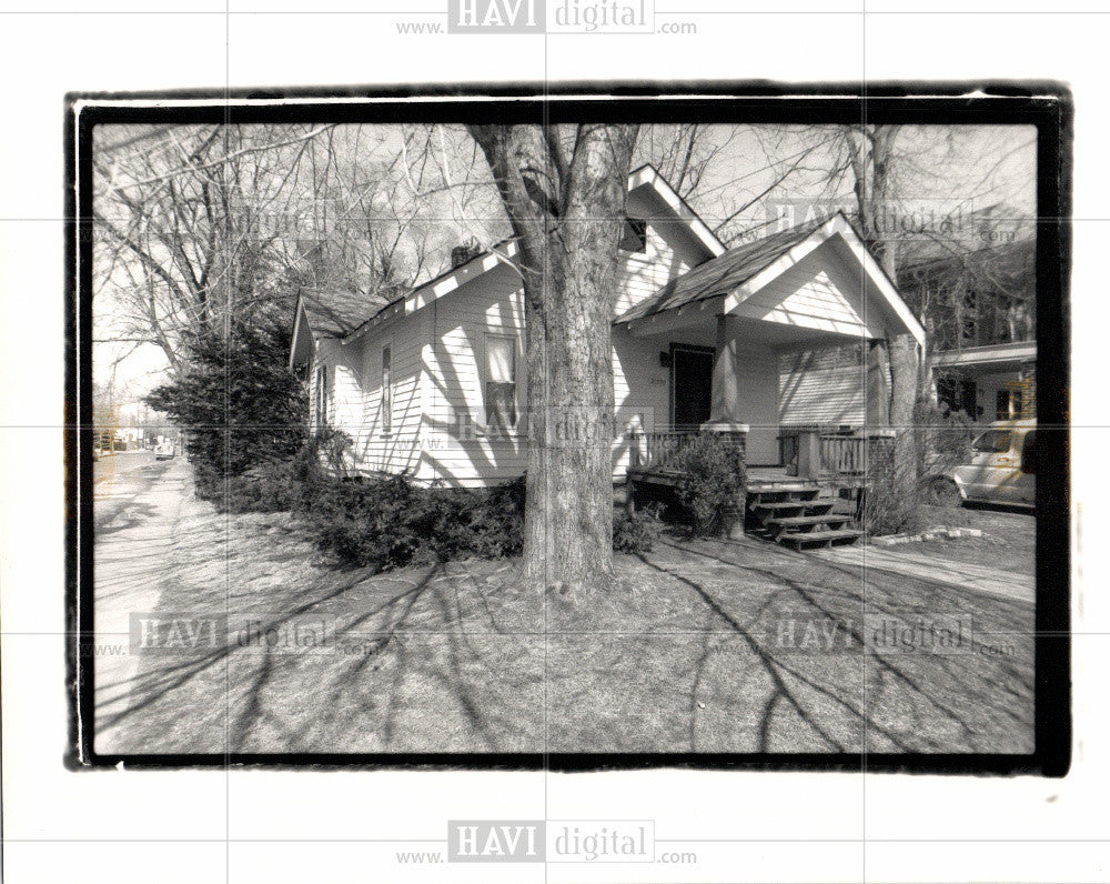 1989 Press Photo Crack houses Detroit - Historic Images