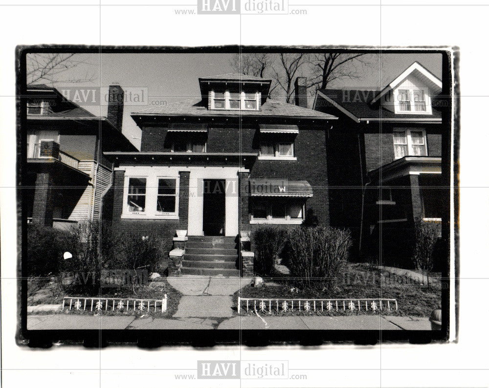 1989 Press Photo Crack houses in Detroit - Historic Images