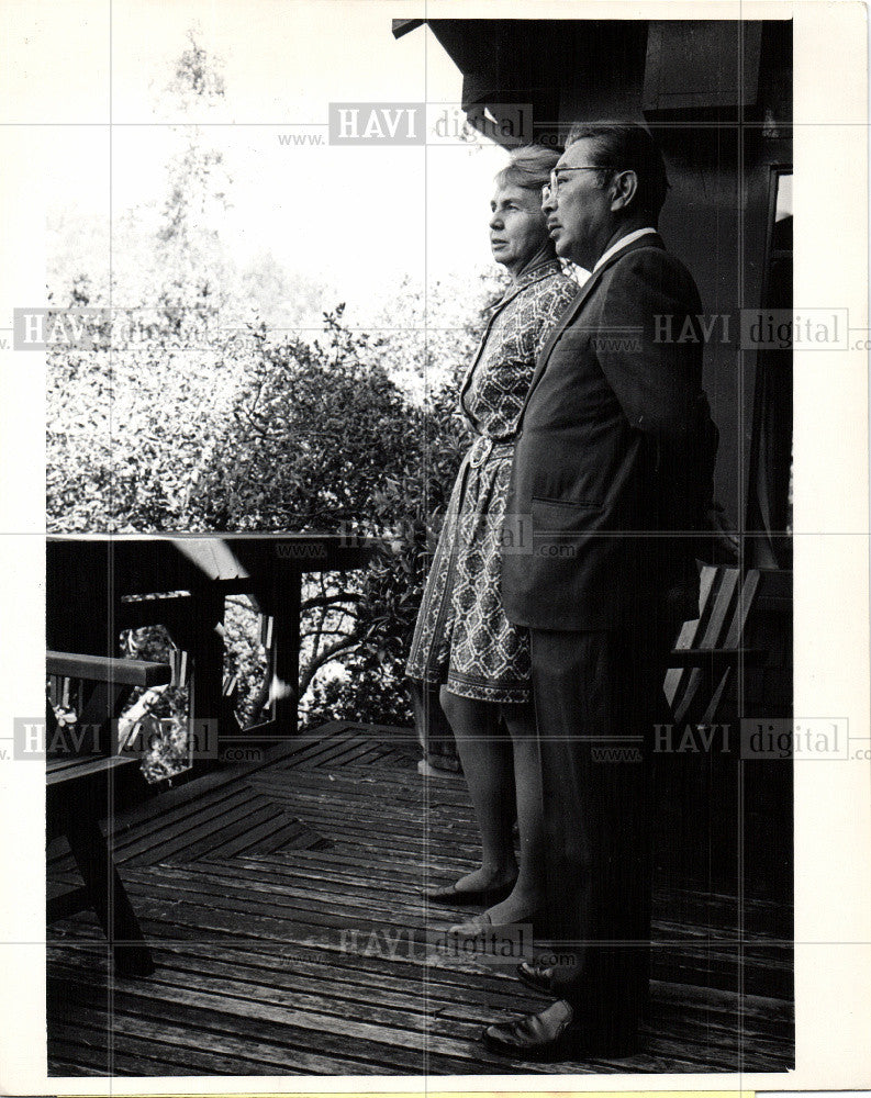 1969 Press Photo Dr.S.I.Hayakawa San Francisco State - Historic Images