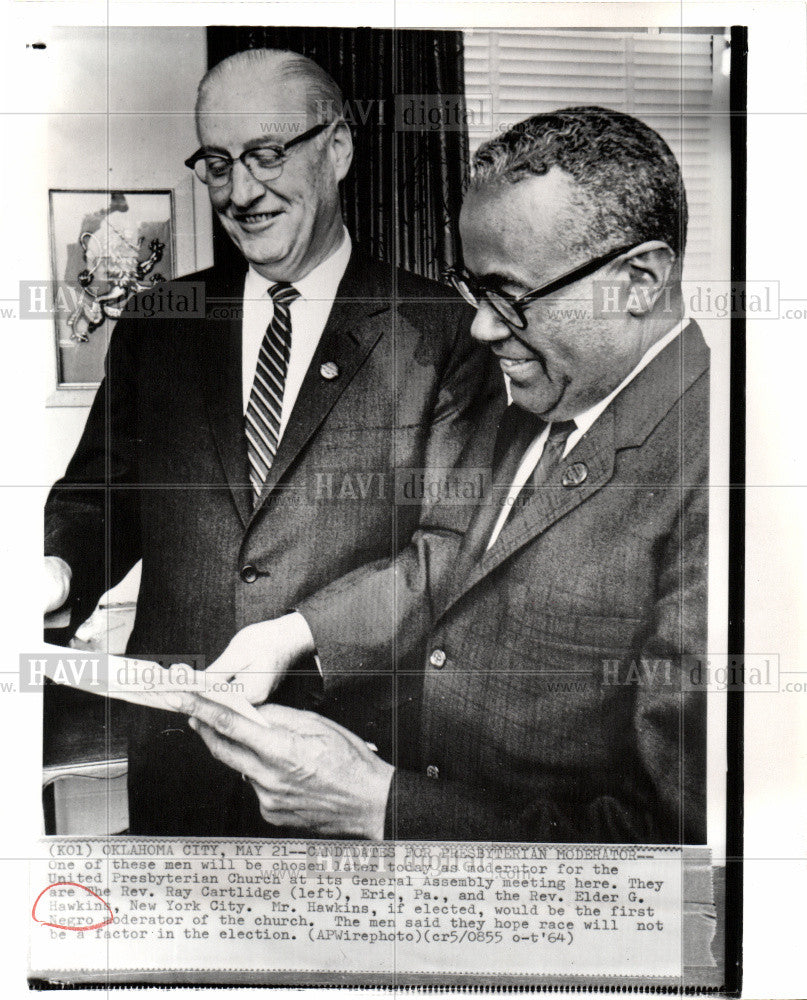1964 Press Photo PRESBYTERIAN MODERATOR - Historic Images