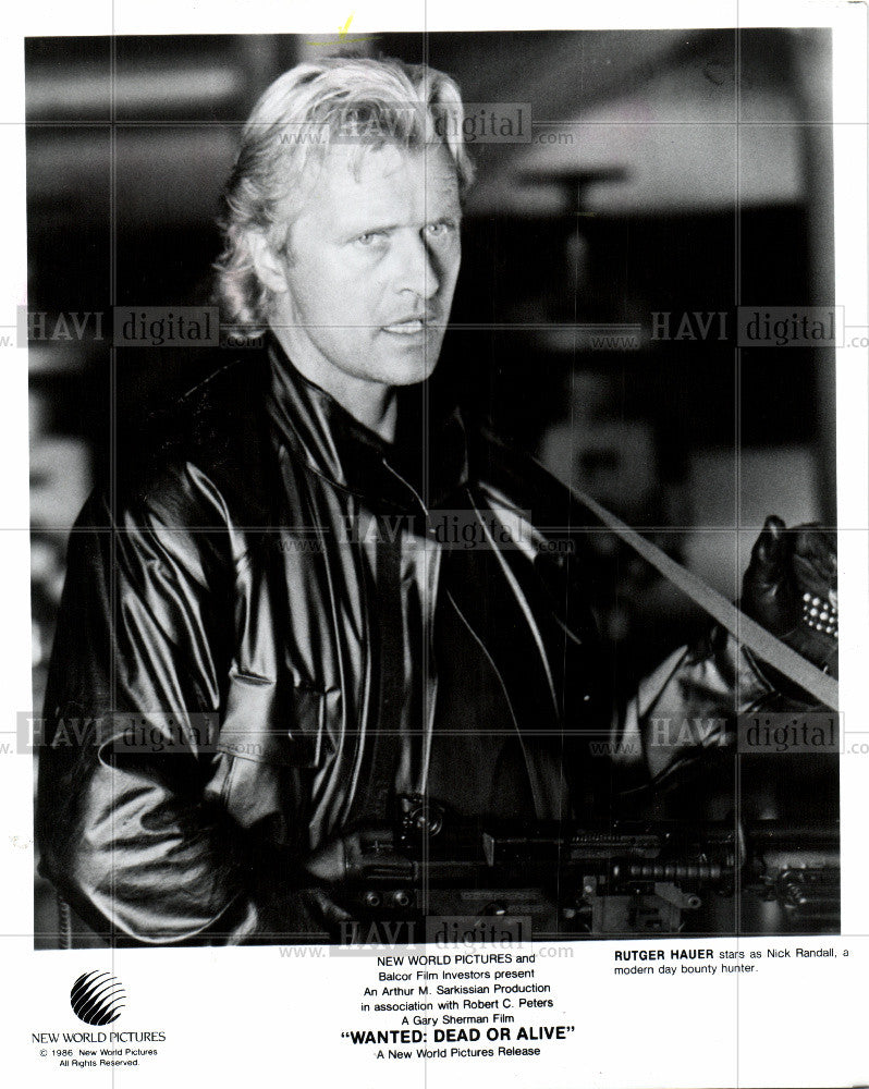 1987 Press Photo stage, television and film actor. - Historic Images
