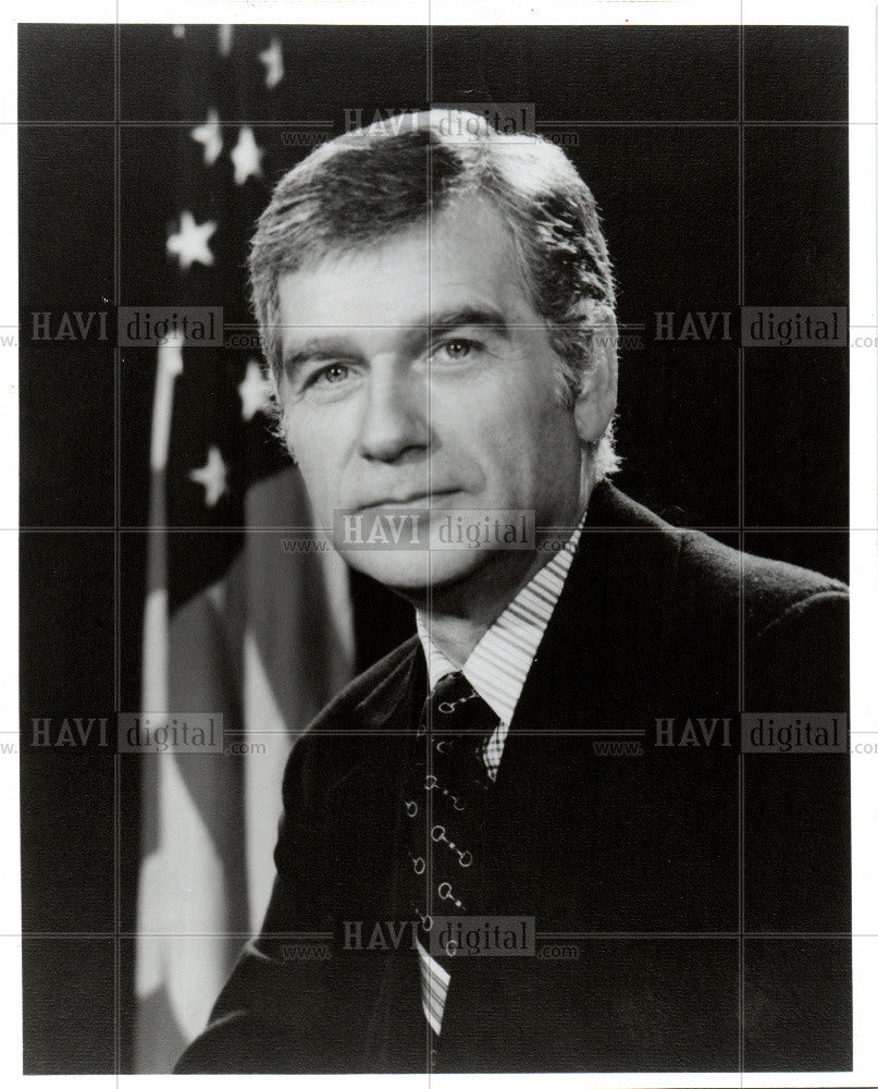 1984 Press Photo Republican Sen. MARK HATFIELD - Historic Images