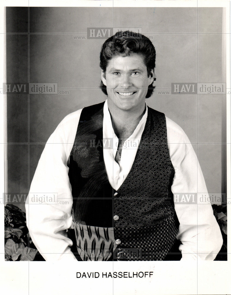 1993 Press Photo David Michael Hasselhoff - Actor - Historic Images