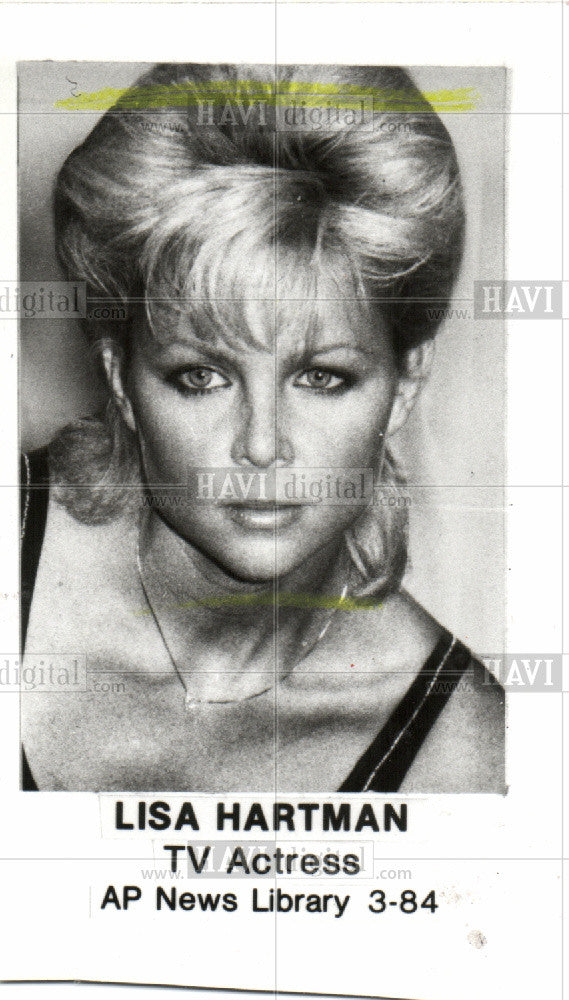 1984 Press Photo Lisa Hartman - Historic Images