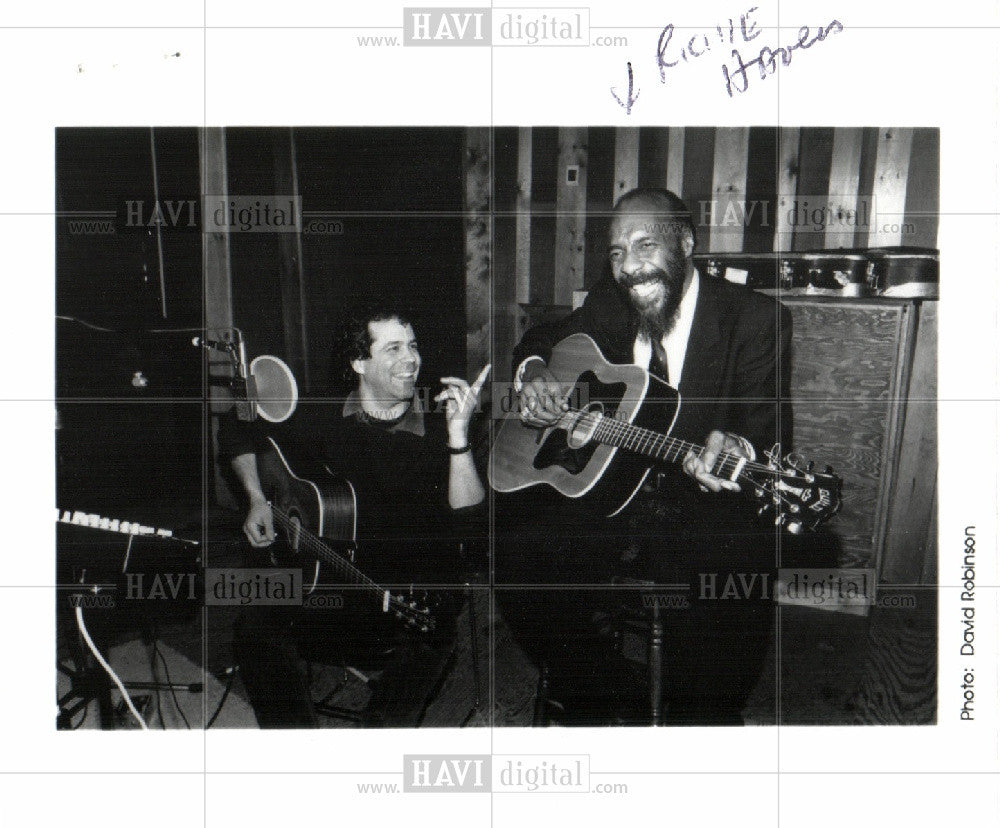 1990 Press Photo Richie Havens folk singer guitarist - Historic Images