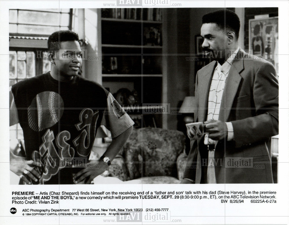 Press Photo Steve Harvey Actor Me And The Boys - Historic Images