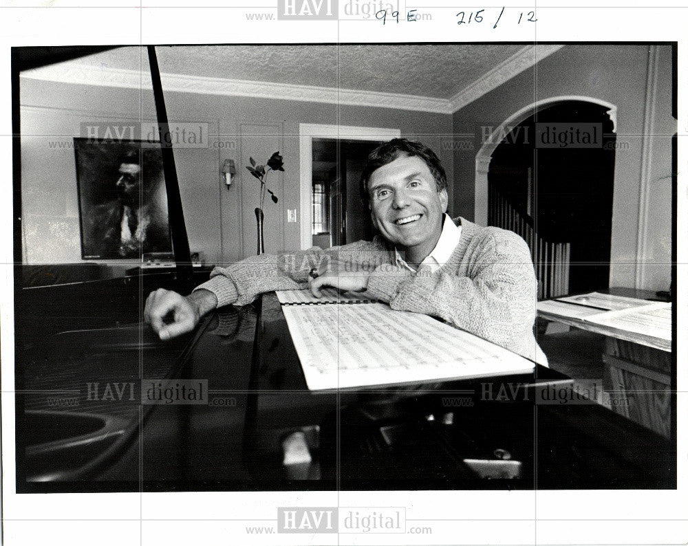 1986 Press Photo Hartway, piano - Historic Images