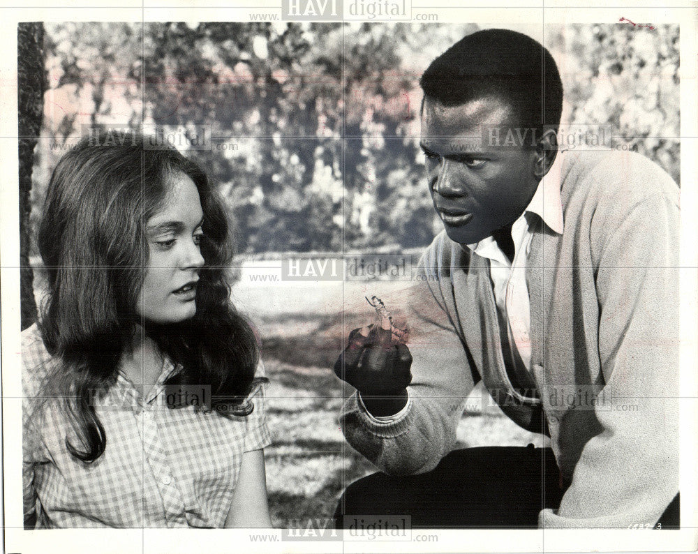 1966 Press Photo A Patch of Blue Hartman Poitier film - Historic Images
