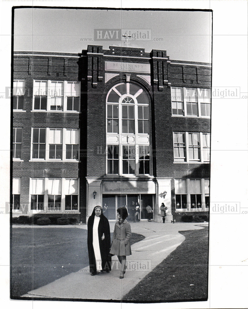 1968 Press Photo St Clements School Archdiocese - Historic Images