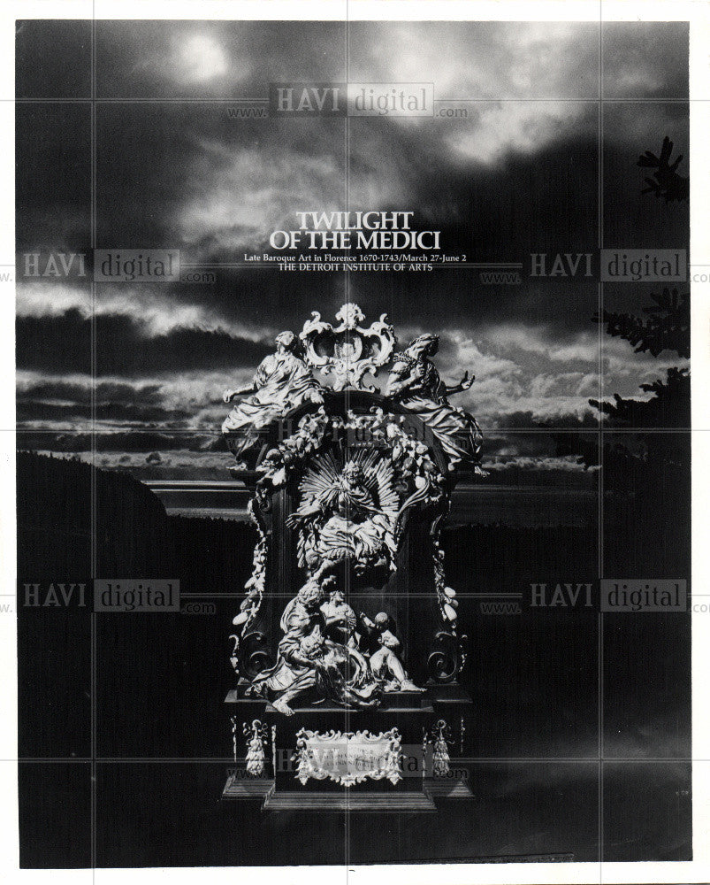 1971 Press Photo Detroit Institute of Arts Painting - Historic Images