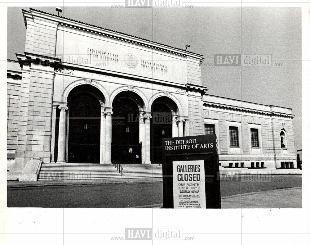 1979 Press Photo Detroit Arts Institute - Historic Images
