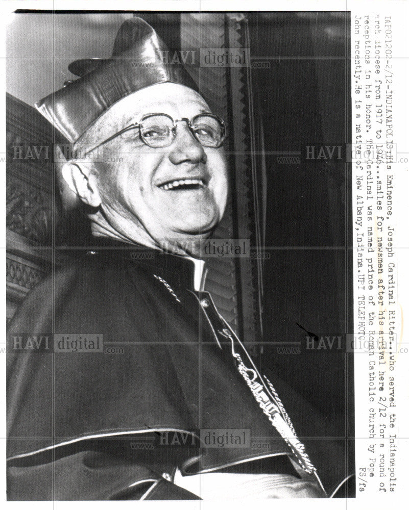 Press Photo John Cardinal Ritter Indianapolis - Historic Images