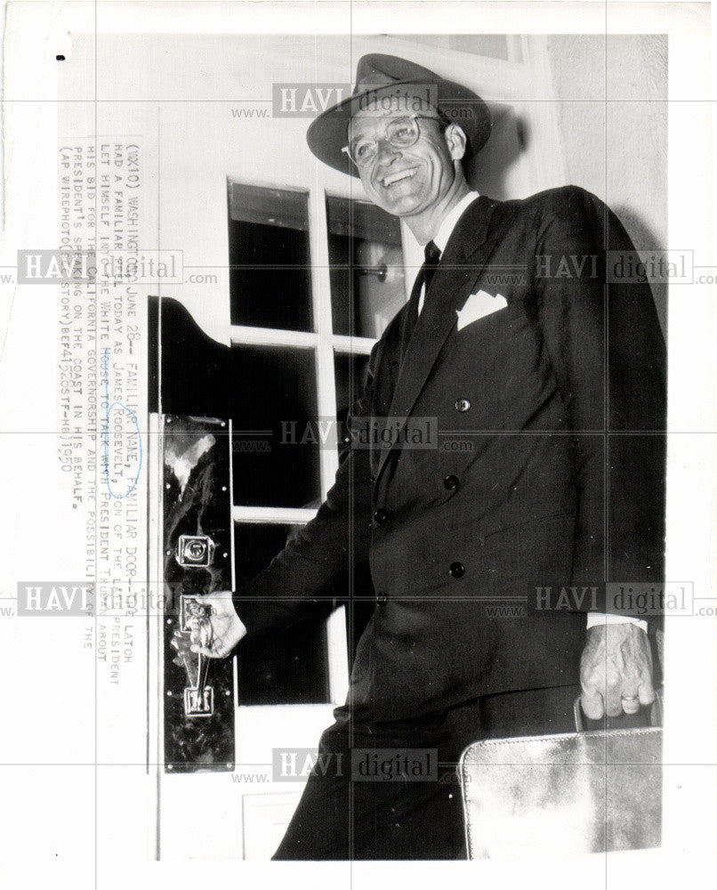 1958 Press Photo james rooseveltPresident - Historic Images