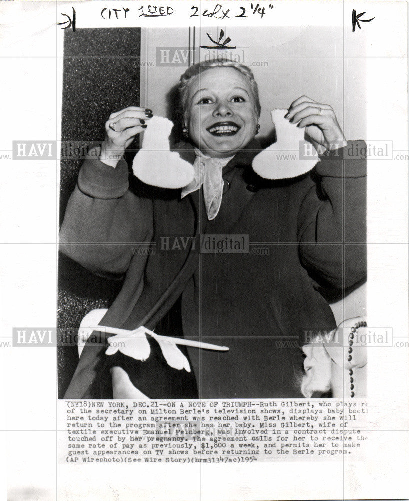1954 Press Photo Ruth Gilbert - Historic Images