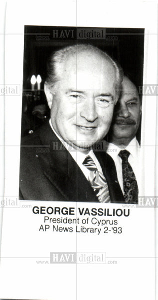 Press Photo George Vassiliou, Cyprus - Historic Images