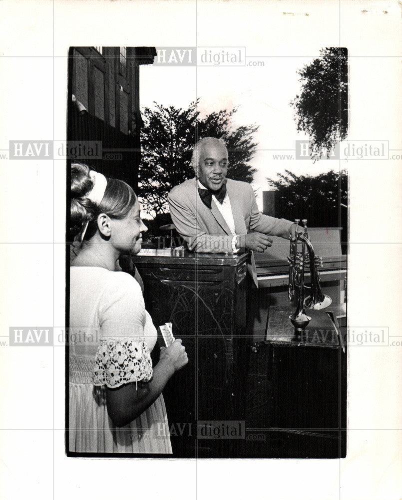 1971 Press Photo Memcer Ellington, trumpet, manager, - Historic Images