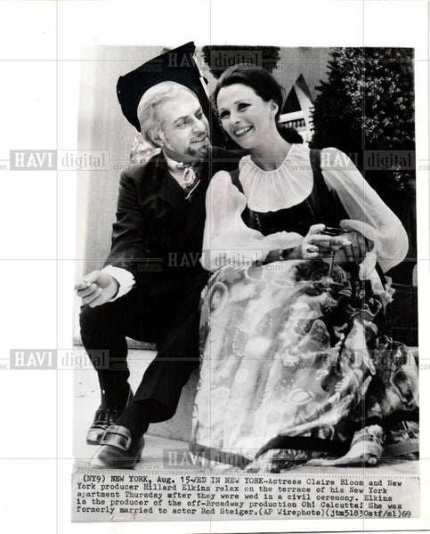 1969 Press Photo CLAIR BLOOM AND HILLARD ELKINS - Historic Images