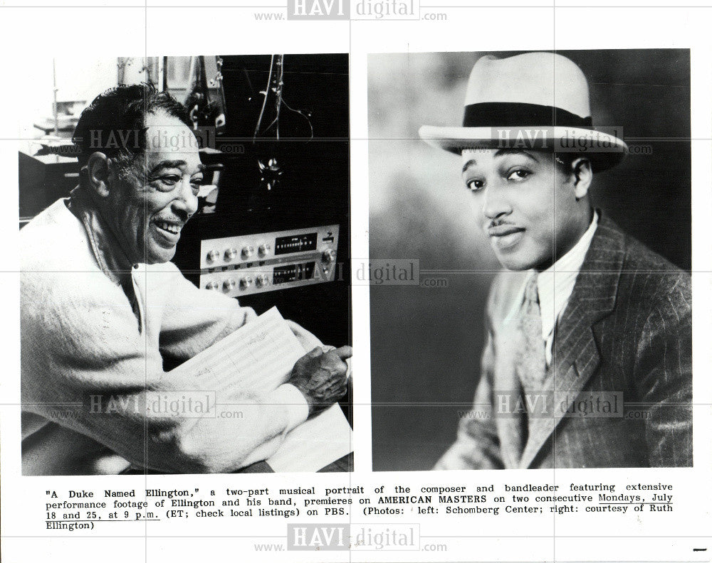1989 Press Photo A Duke Named Ellington bandleader - Historic Images