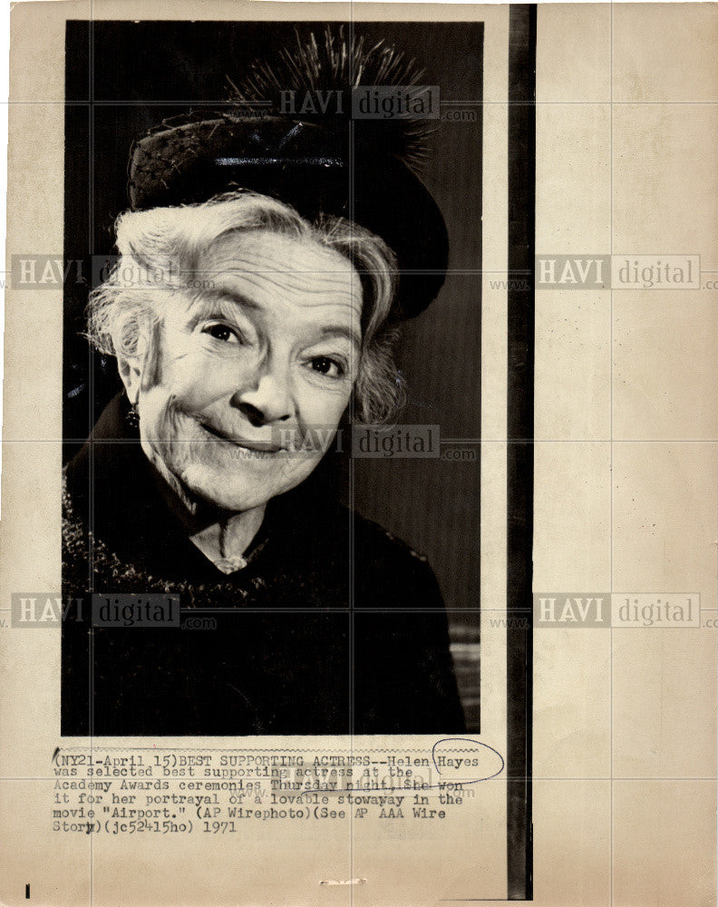 1978 Press Photo Helen Hayes Actor - Historic Images
