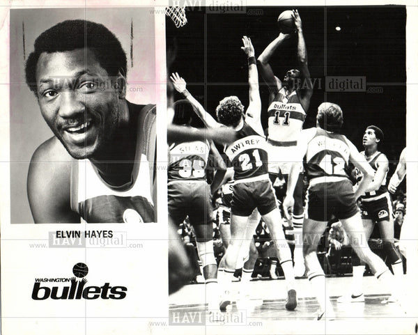 1981 Press Photo Elvin Hayes Washington Bullets NBA - Historic Images