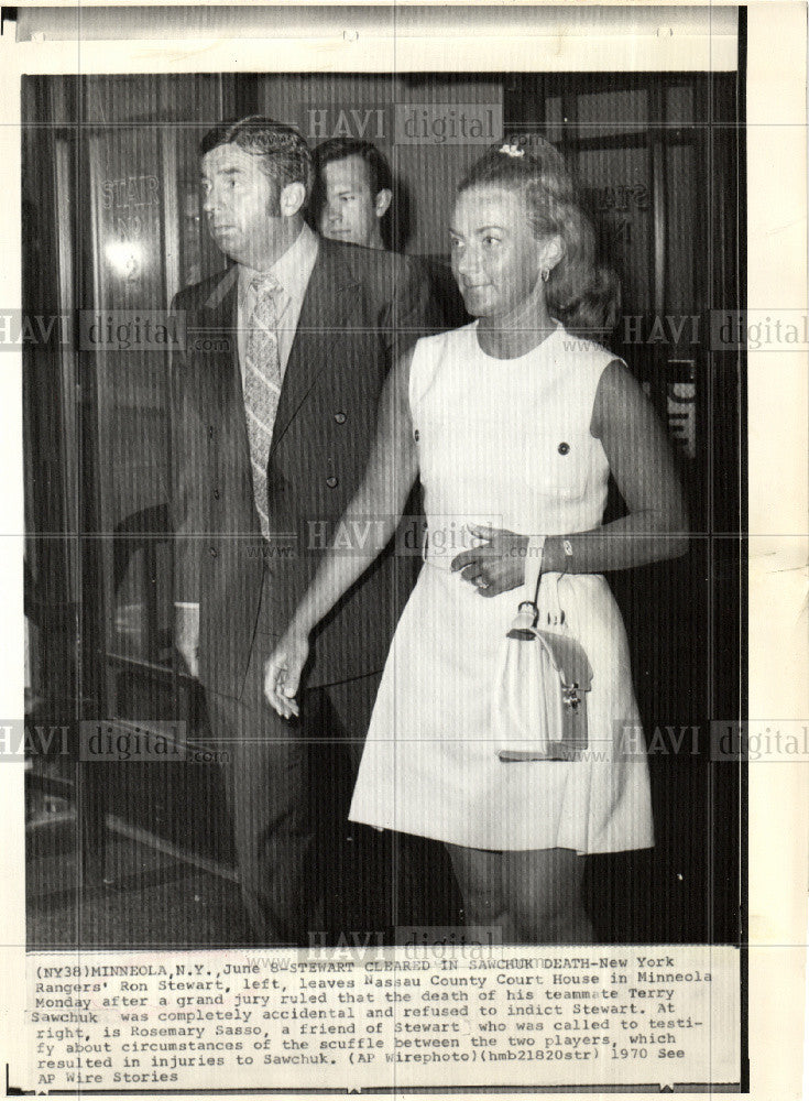 1970 Press Photo Ron Stewart Rosemary Sasso Nassau - Historic Images