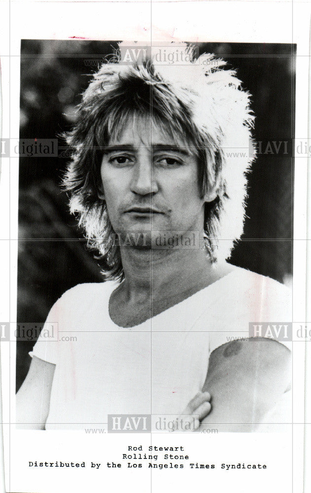 1984 Press Photo Rod Stewart - Historic Images